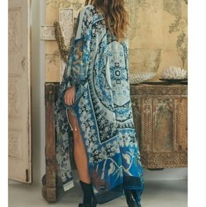 Free People Keeping Up With The Kimono Indgo NWT